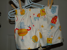 Retro Robot baby boxers w/ mock fly $15