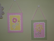 "Canvas ""Flower"" Wall Art $18 each"