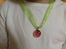 Christmas red and white polka dot chick charm w/ ribbon necklace $9