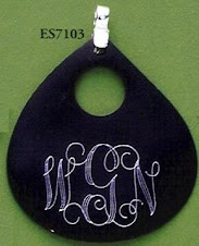 Engravable Black Shell Pendant $10 plus $5 for monogramming