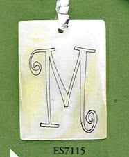 Engravable square pendant $10 plus $5 for monogramming