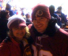 Brandon and his Mom at a Redskin Game