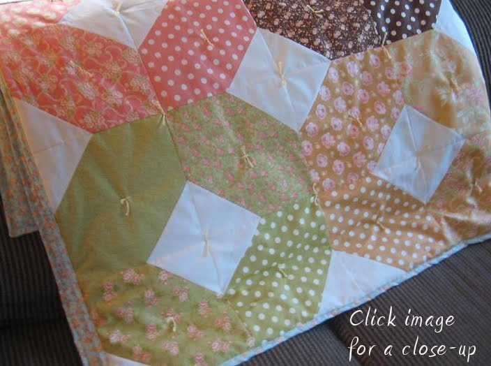 How to Tie a Quilt | Quilting in the Rain : knotting quilts - Adamdwight.com
