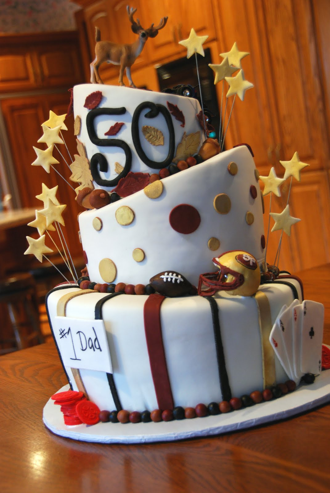Cup ee cakes 50th birthday cake for 50th birthday cake decoration