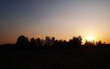 Un tramonto nelle mie campagne.