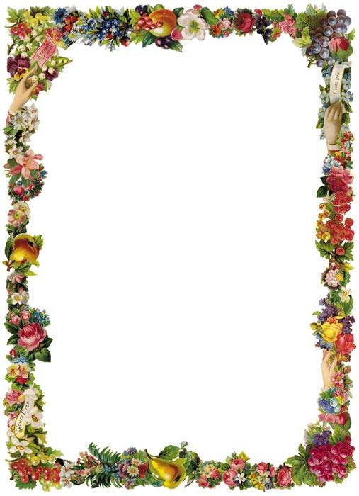 Free Vintage Clip Art - Victorian Floral Borders