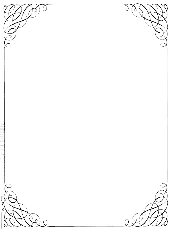 Free Vintage Clip Art - Calligraphy Borders and Frames title=