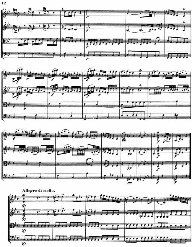 Free Vintage Clip Art - Mozart Sheet Music
