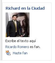 Richard en la Ciudad en Facebook