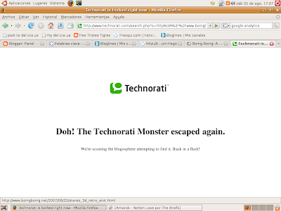Technorati down