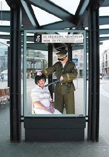 valla publicitaria ilusion optica amnistia internacional