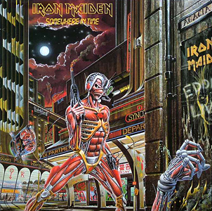 Portada Iron Maiden somewhere in time