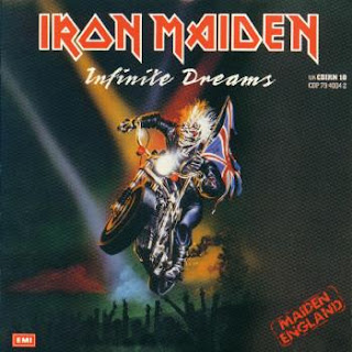 Portada Iron Maiden single infinite dreams live
