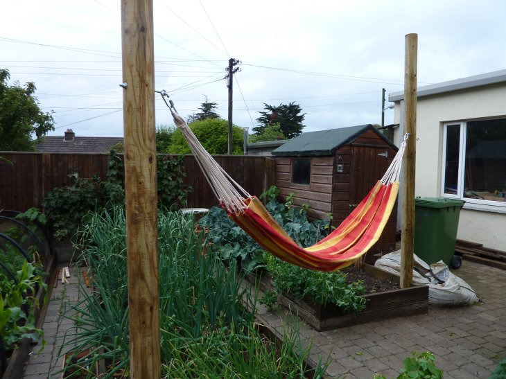 pretty happy with the job and the kids definitely are enjoying the hammock  i had 4 kids in one of these earlier with no movement on the posts  hammocks hammocks hammocks   seand on giy  rh   sdoherty