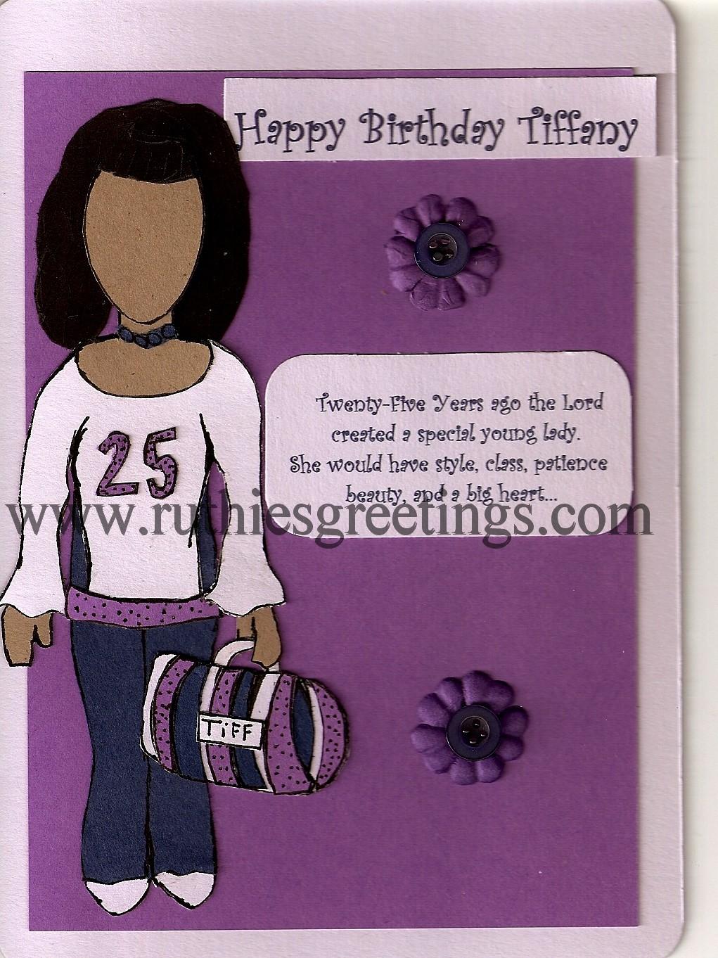 25th Birthday With Style Handmade Birthday Card