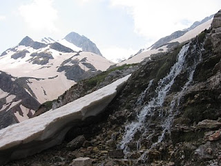 water flow on mountain