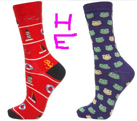 Crazy socks for a crazy girl