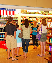 Lara Veazey, Crest Foods personal dietitian taking customers on a Supermarket Tour