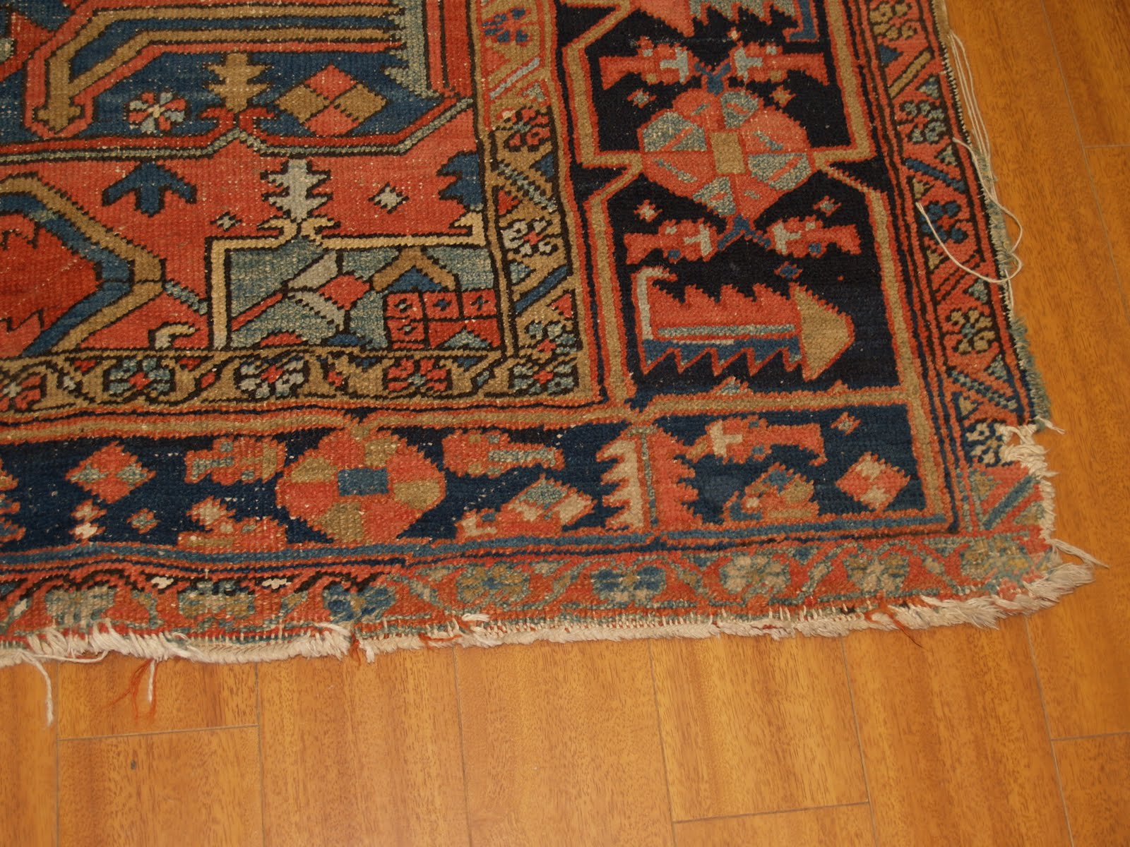 We Received A Severely Damaged Hand Knotted Persian Heriz Rug For Cleaning  And Repair. Here I Am Posting Some Information In General On Heriz Carpets  With ...