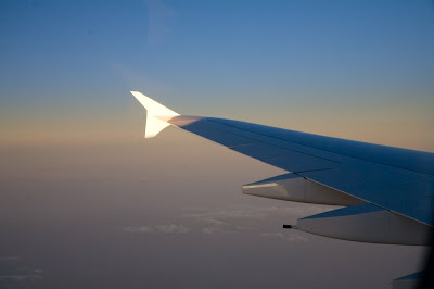View of A380 wingtip