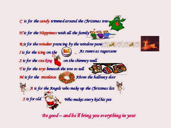 My Maharashtra: The Christmas Alphabet Words Lyrics