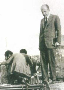 El ingeniero Carlos Fernández Casado a pie de obra