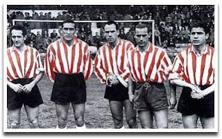 Foto de los Cinco Fantasticos, Venancio es el segundo por la izquierda