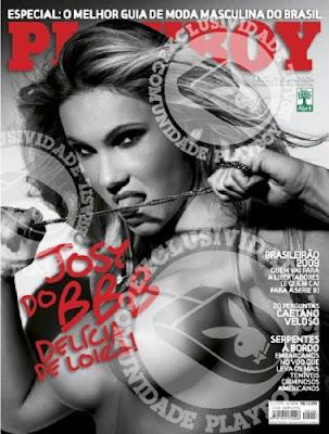 Capa da Playboy de Maio com Jozy do BBB vaza na internet