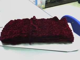 chenille scarf in wine