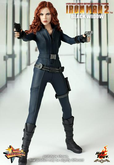 Likeness of scarlett johansson as black widow in the movie iron man 2