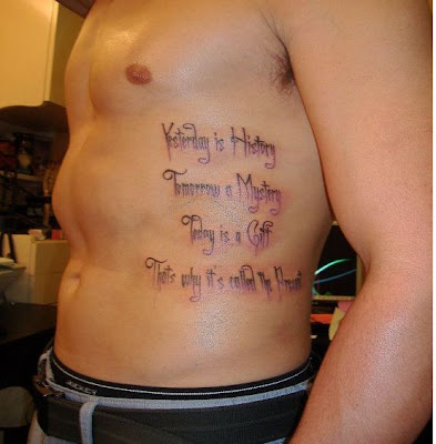 Inspirational tattoos are designs best for all time whether it is today or