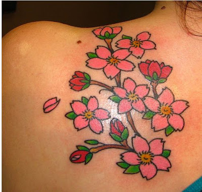 cherry blossom tattoo meaning. Cherry blossom tattoo designs