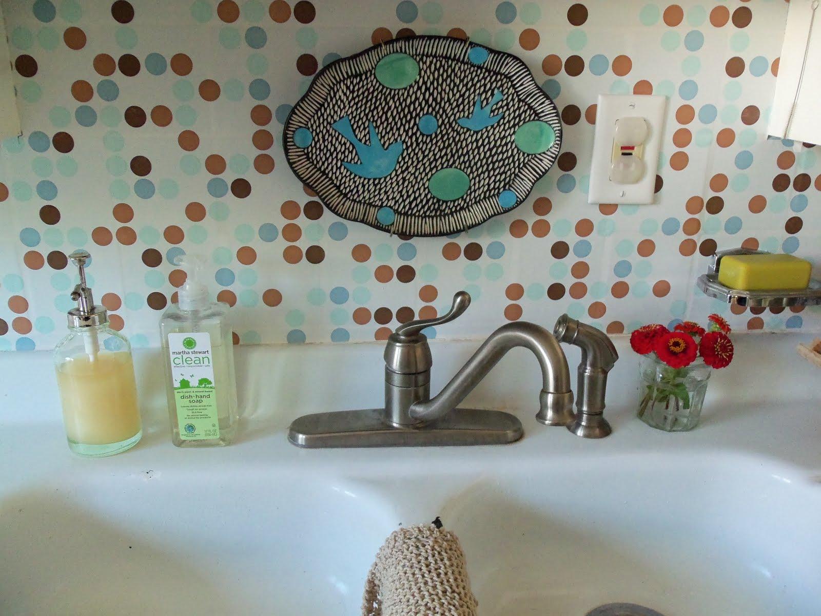 Kitchen Backsplash Contact Paper remodelaholic | quick and painless backsplash makeover