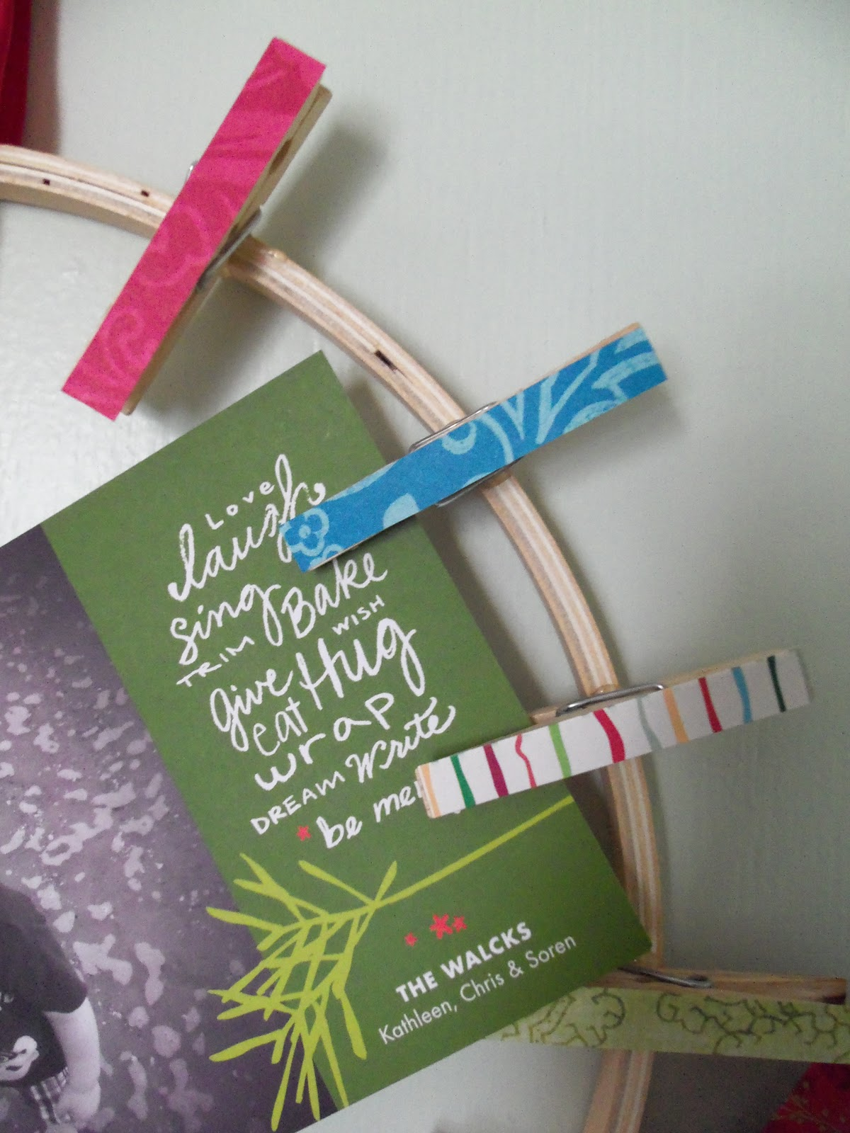 DIY Christmas Card Holder {from Katydid U0026 Kid}