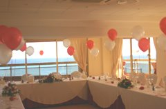 [Red+&+White+wedding+in+Sunset+Beach+Club]