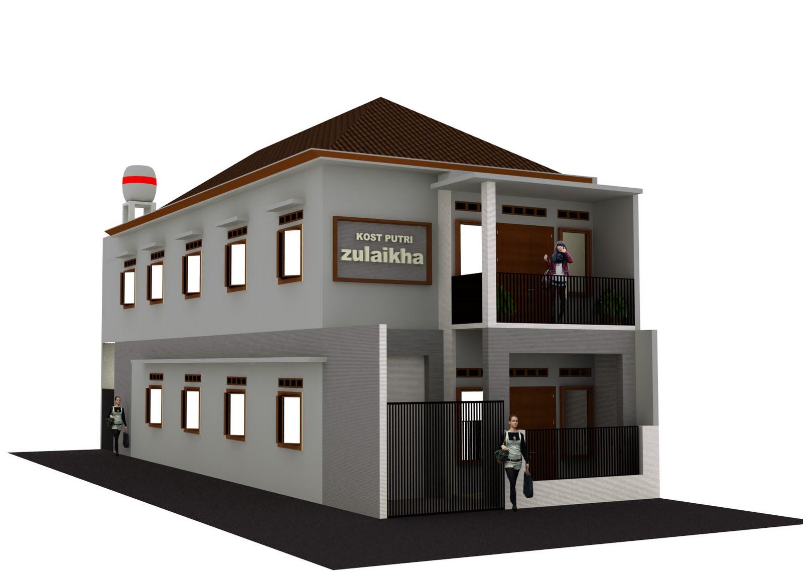 EMKA ARCHITECT: Desain Rumah Kos