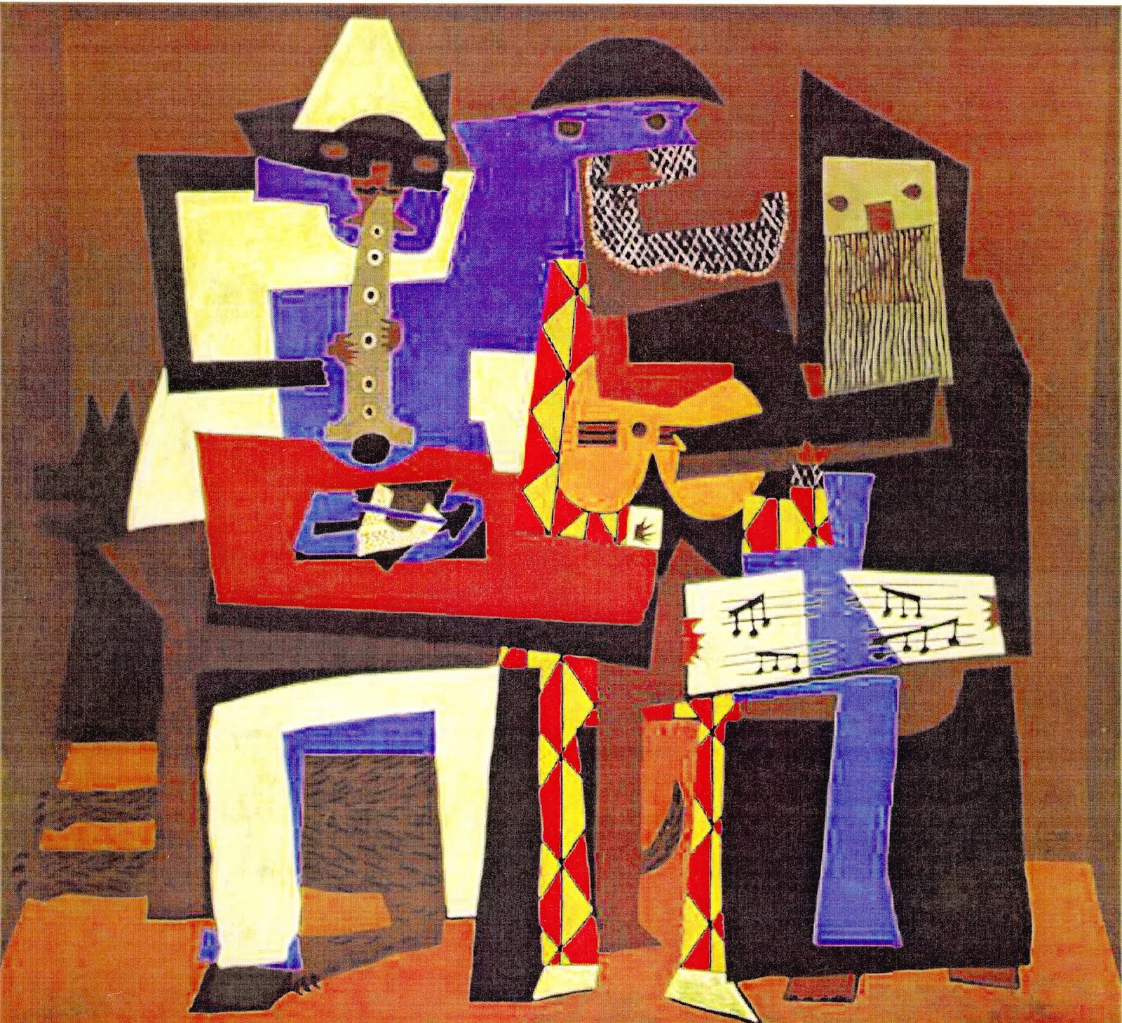 pablo picassos three musicians Pablo picasso was, and is still, famous for his various forms of art, including paintings and sculptures picasso was also a stage designer, a ceramicist and a printmaker he was born in 1881 in malaga, spain, and died at the age of 91 in france picasso started painting under his father's training.