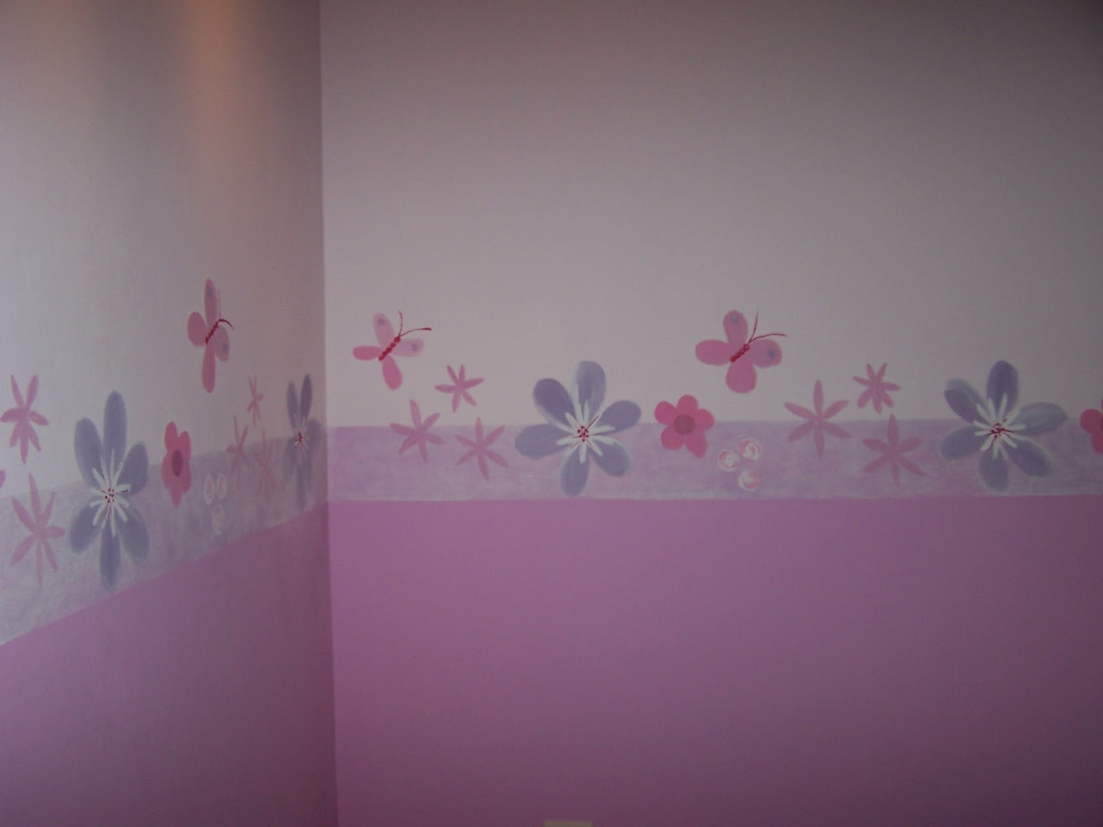 Matices pintura decorativa cenefa para habitaci n de ni a - Habitacion para nina ...
