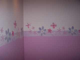 Matices pintura decorativa cenefa para habitaci n de ni a - Como pintar habitacion nina ...