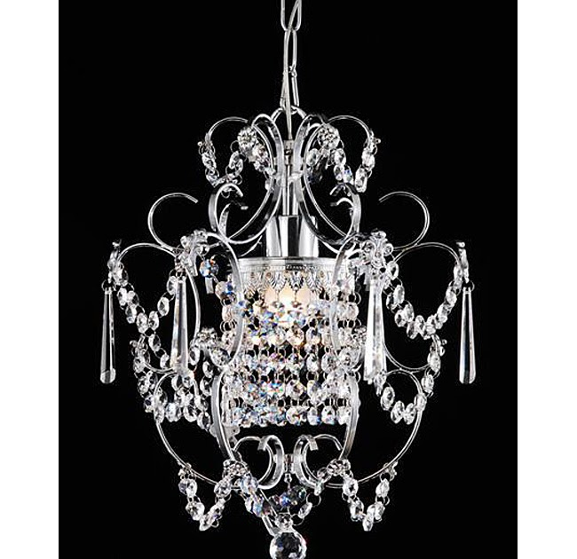 Am dolce vita powder room chandelier - Small crystal chandelier for bathroom ...