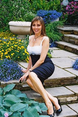 Carol Vorderman at Chelsea Flower Show