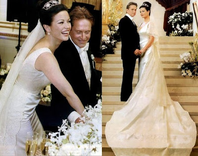 catherine zeta jones wedding photo