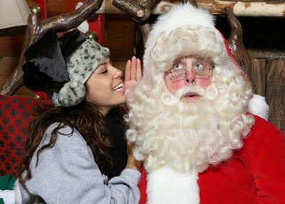 Eva Longoria Santa Claus