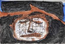 Arco Selas. Escorzo de lápida (tintas sobre papel). París, 2005.