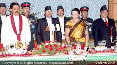 श्रीलंकाली राष्ट्रपति काठमाण्डौमा