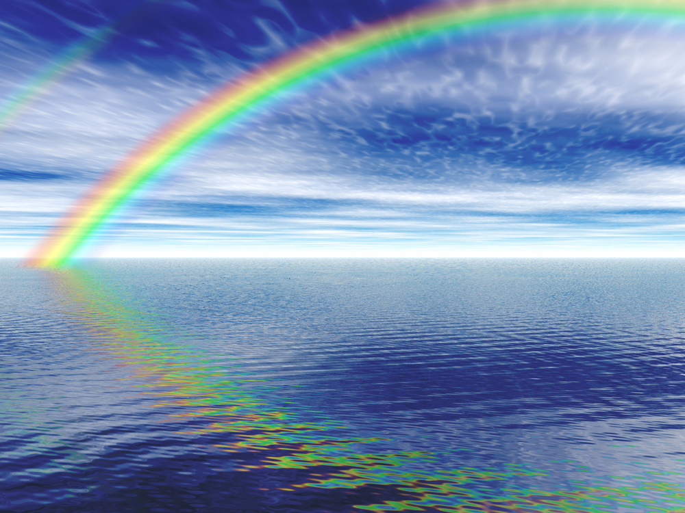 The best was the beautiful rainbow that suddenly appeared across the