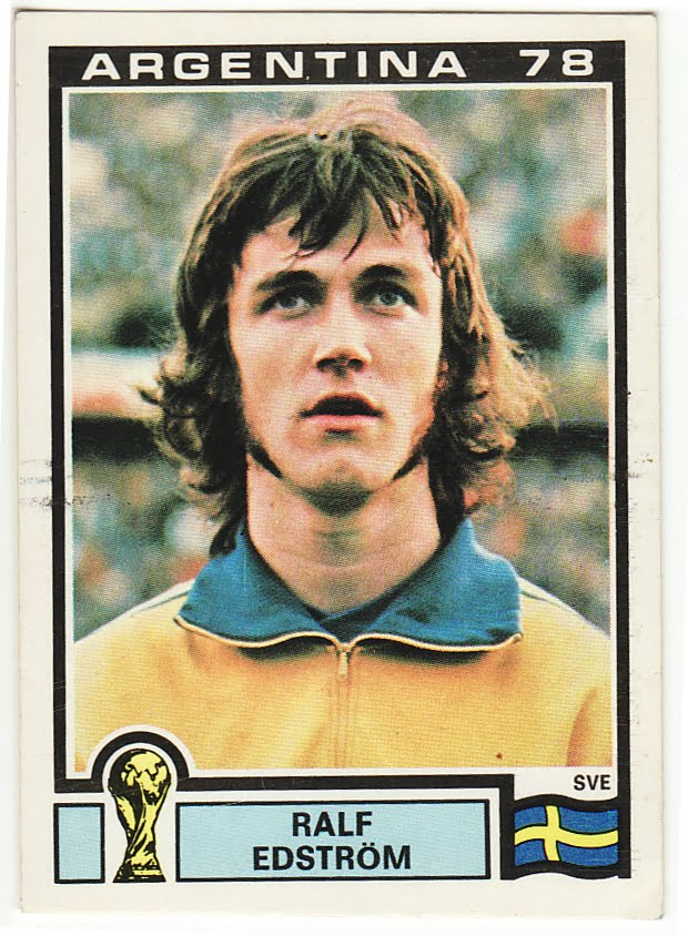 football cards for sale. Vintage Football Cards For Sale: Ralf Edstrom Sweden Panini Argentina '78