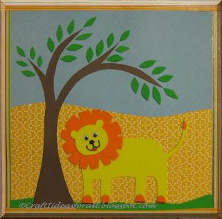 Craft Ideas For All Handmade Nursery Wall Art Part II Lion