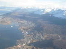 View of Ushuaia from the plane