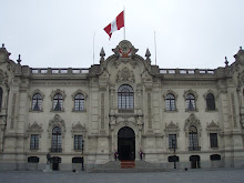 The Presidential Palace in the Plaza Mayor in Lima.
